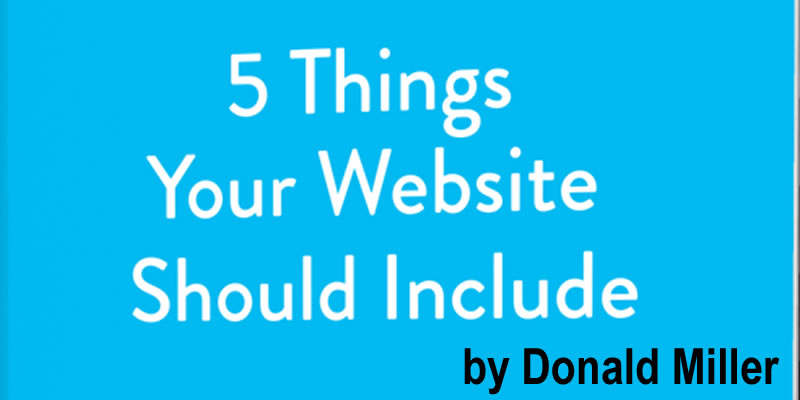 5 Things a website Should Include Photo